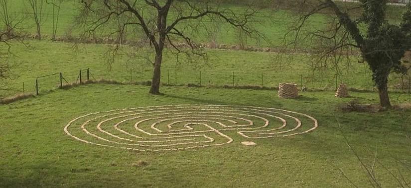 Das Labyrinth an der Blauen Villa